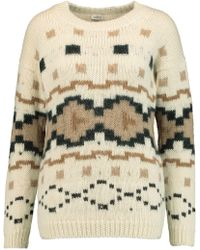 Talitha - Intarsia-knit Alpaca Jumper - Lyst