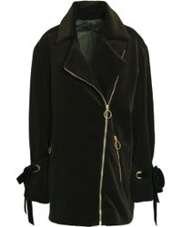 Mother Of Pearl - Asymmetric Cotton-corduroy Coat Forest Green - Lyst
