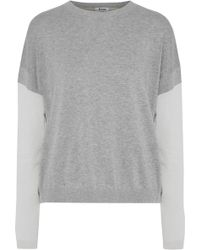 Acne Studios - Kainoa Color-block Mélange Cotton Sweater - Lyst