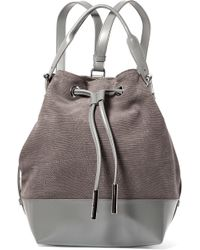 Opening Ceremony - Izzy Lizard-effect Nubuck And Leather Backpack - Lyst