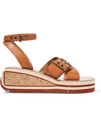Étoile Isabel Marant - Zena Leather Wedge Sandals - Lyst