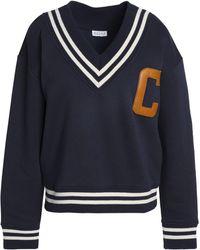 Claudie Pierlot - Appliquéd Cotton-blend Sweatshirt - Lyst