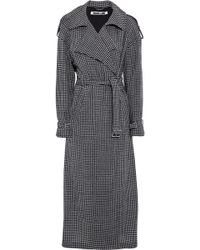 McQ - Gingham Cotton And Wool-blend Trench Coat - Lyst