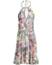 Matthew Williamson - Cutout Printed Silk Halterneck Dress - Lyst