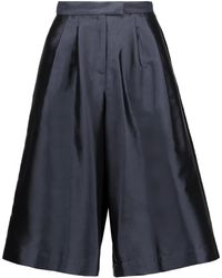 Suno   Pleated Silk And Cotton-blend Faille Culottes   Lyst