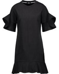 Goen.J - Ruffled Cotton-jersey Mini Dress - Lyst