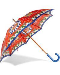 Dolce & Gabbana - Printed Twill Umbrella - Lyst