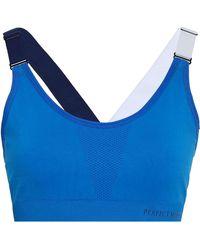 Perfect Moment - Woman Color-block Stretch Sports Bra Cobalt Blue Size Xs - Lyst