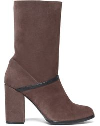Castaner - Leather-trimmed Suede Ankle Boots - Lyst
