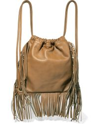 Sara Battaglia - Teresa Fringed Leather Backpack - Lyst