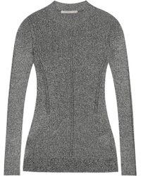Christopher Kane - Metallic Pointelle-knit Sweater - Lyst