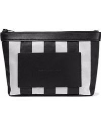 Alexander Wang - Leather-paneled Striped Woven Cosmetics Case - Lyst