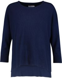 FRAME - Ribbed Cotton And Silk-blend Jumper - Lyst
