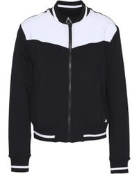 Purity Active - Woman Two-tone Tech-jersey Track Jacket Black - Lyst