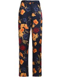 Mother Of Pearl - Floral-print Silk Crepe De Chine Straight-leg Pants - Lyst