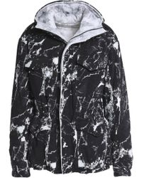 Norma Kamali - Reversible Printed Shell Hooded Coat - Lyst