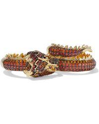 Noir Jewelry - Dragon Gold-tone Crystal Ring - Lyst
