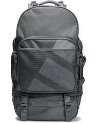 adidas Originals - Woman Mesh-paneled Printed Twill Backpack Grey Size -- - Lyst
