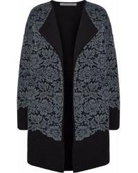 Diane von Furstenberg - Lace Appliquéd Wool Jacket - Lyst