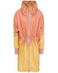 adidas By Stella McCartney - Woman Gathered Dégradé Shell Jacket Antique Rose Size Xxs - Lyst