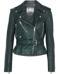 W118 by Walter Baker - Celina Leather Biker Jacket - Lyst