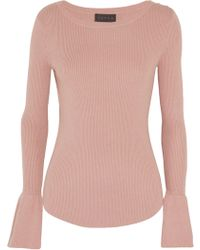 HATCH - Fluted Ribbed Cotton-blend Top - Lyst