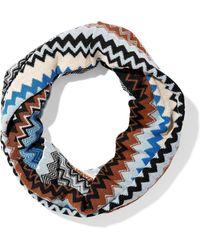 Missoni - Crochet-knit Wool-blend Infinity Scarf - Lyst