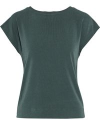 By Malene Birger - Draped Cutout Crepe Shirt - Lyst