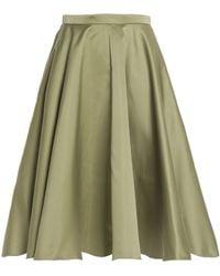 Rochas - Pleated Duchesse-satin Skirt - Lyst