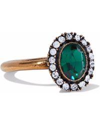 Stella McCartney - Burnished Gold-tone Crystal Ring - Lyst