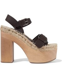Paloma Barceló - Lucia Leather Platform Espadrille Sandals - Lyst