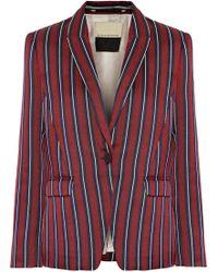 By Malene Birger - Dantegas Striped Woven Blazer - Lyst