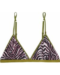 Love Stories - Uma Zebra-print Tulle Soft-cup Triangle Bra - Lyst
