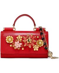 Dolce & Gabbana - Embellished Lizard-effect Leather Iphone Case Red - Lyst