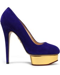 Charlotte Olympia - Dolly Suede Platform Pumps - Lyst
