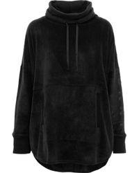 DKNY - Panelled Herringbone Flannel Pyjama Top Black - Lyst