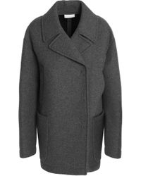 DKNY - Double-breasted Wool-blend Coat - Lyst