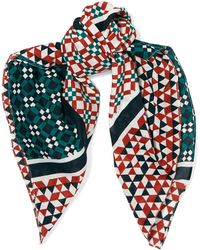 Maje - Printed Cotton Scarf - Lyst