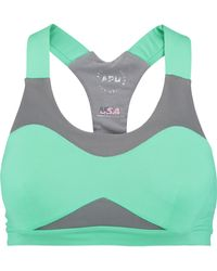 Athletic Propulsion Labs - Mesh-paneled Stretch-knit Sports Bra - Lyst