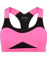 Athletic Propulsion Labs - Neon Mesh And Stretch-knit Sports Bra - Lyst