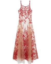 I.D Sarrieri - Pleated Embroidered Silk-blend Tulle Nightgown - Lyst