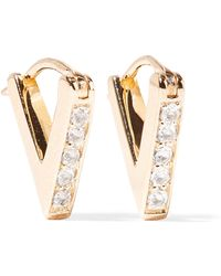 Elizabeth and James - Kuril Gold-tone Crystal Earrings - Lyst