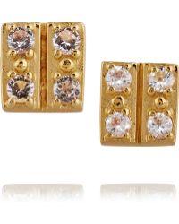 Elizabeth and James - Edo Gold-plated Quartz Earrings - Lyst