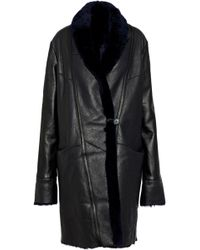 VEDA - Estate Reversible Shearling Coat - Lyst