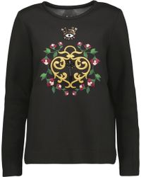 Mother Of Pearl - Edith Embellished Embroidered Cotton And Modal-blend Sweatshirt - Lyst