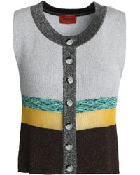 Missoni - Paneld Metallic Stretch-knit Top - Lyst