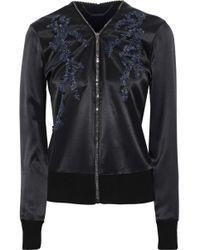 Elie Tahari - Preeya Embellished Wool-paneled Silk-satin Jacket - Lyst