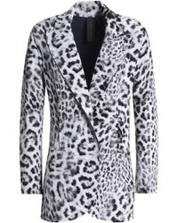 Norma Kamali - Leopard-print Neoprene Blazer - Lyst