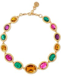 Ben-Amun - Gold-tone And Crystal Necklace - Lyst