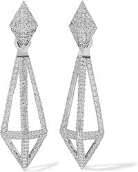 Noir Jewelry - Blarney Silver-tone Crystal Earrings - Lyst